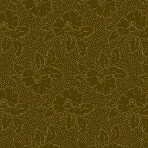 Andover SEQUOIA, Floral Silhouette Brown 8752N, 100% Cotton Patchwork Quilting